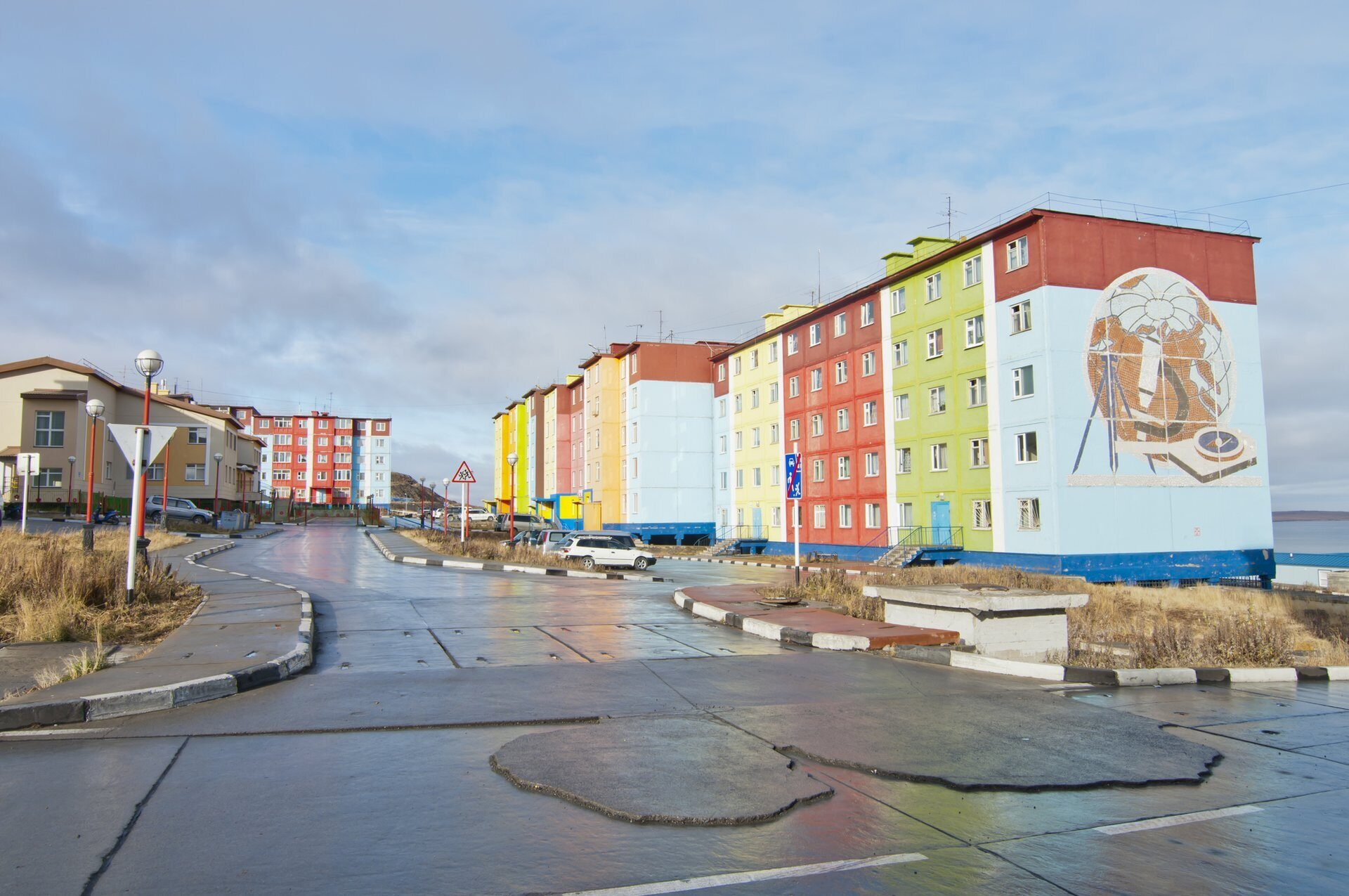 Anadyr streets. Town view